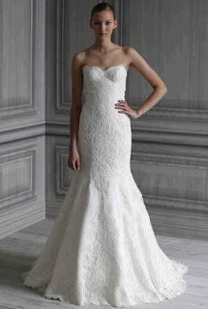 Black Wedding Dress on Monique Lhuillier Wedding Dress Style Spring 2012  Florence   Onewed
