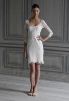 Короткое свадебное платье 2012 с длинными рукавами.