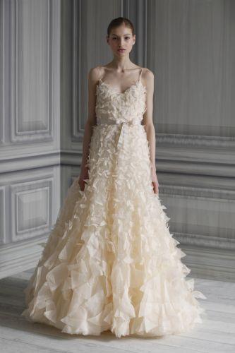 Monique lhuillier wedding dress style flutter onewed for Price of monique lhuillier wedding dresses