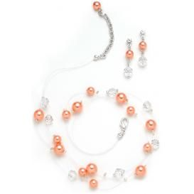 Stephania pearl bridesmaid necklace and earrings