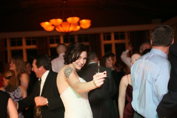 Rock 'n Roll Bride is Happy and Ready to Party at her Reception
