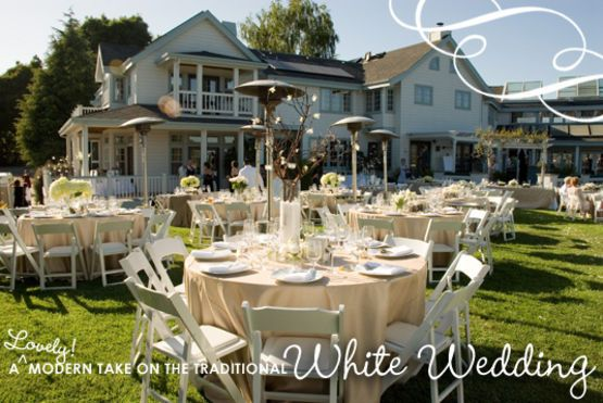 A lovely modern take on the traditional white wedding