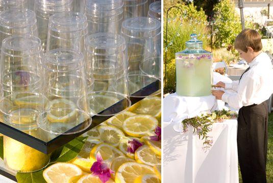 Lemonade brings a summertime vibe to any wedding