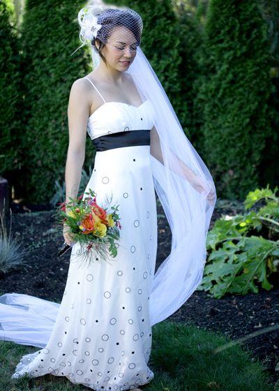 vrai birdcage bridal veil