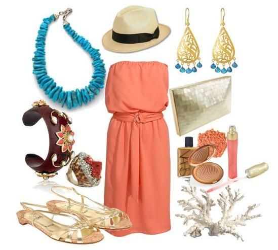 Credit Polyvore Spring Summer Beach Wedding
