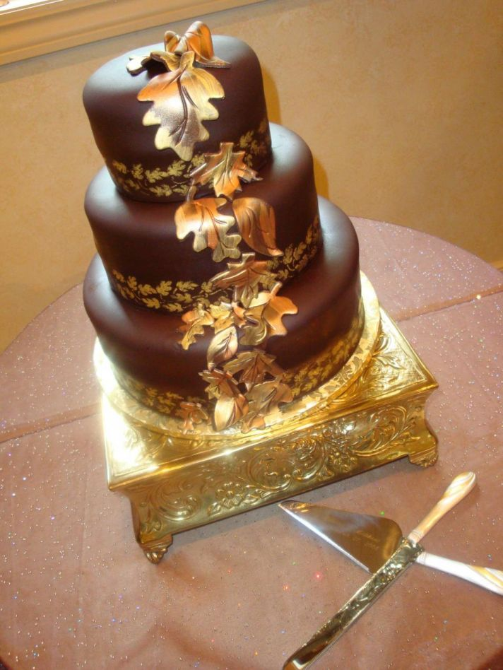 chocolate brown and gold wedding cakes suzy homefaker food bling edible gold 12689