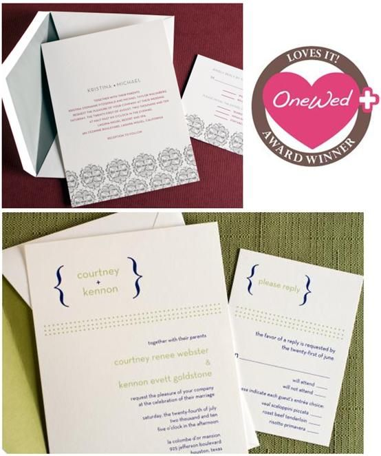 OneWed loves Wedding Paper Divas, especially the beautiful Thermography collection!
