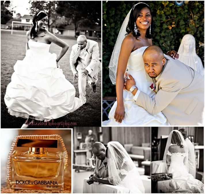 bride and groom feeling playful and prayerful