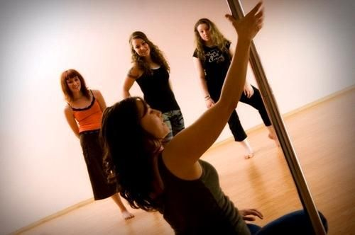 Pole dancing lessons with your bridesmaids- great way to tone up and have fun