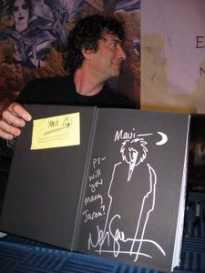 Gaiman's amazing proposal inscription