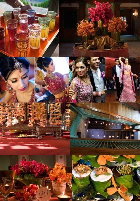 This Indian inspired wedding collage is truly a carnival of color