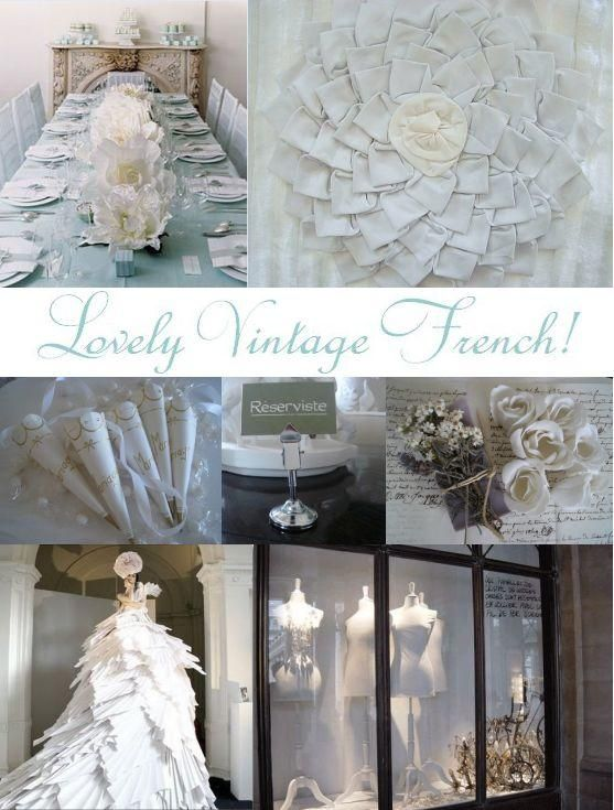Let the softness of French style, beautiful white lace, and dreamy feathers inspire your wedding
