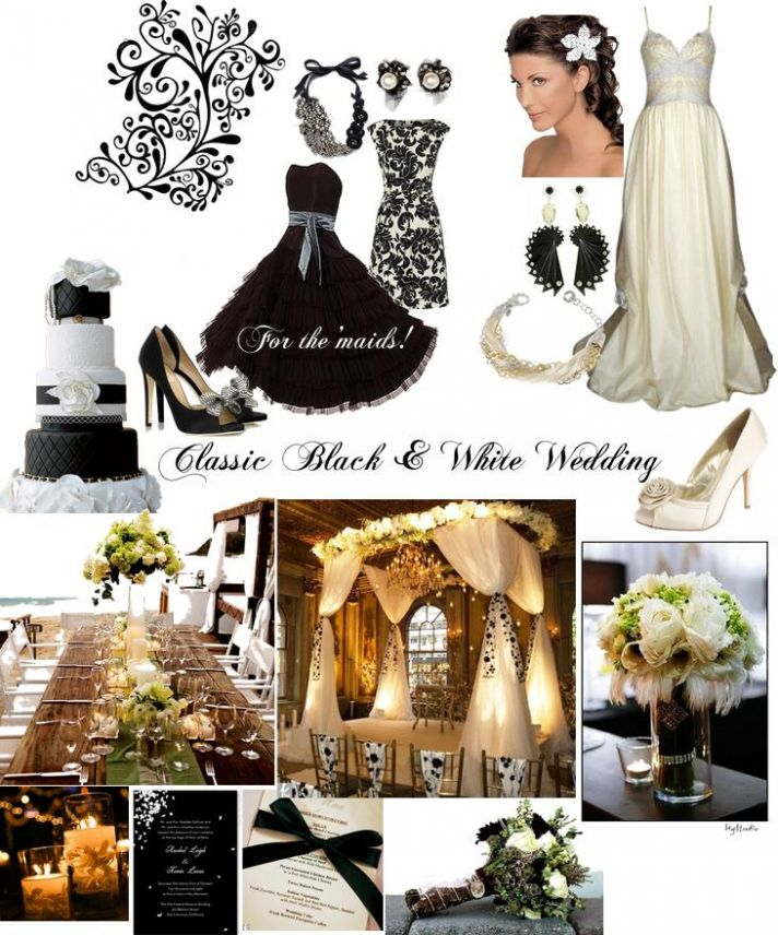 You can't go wrong with a chic black and white wedding