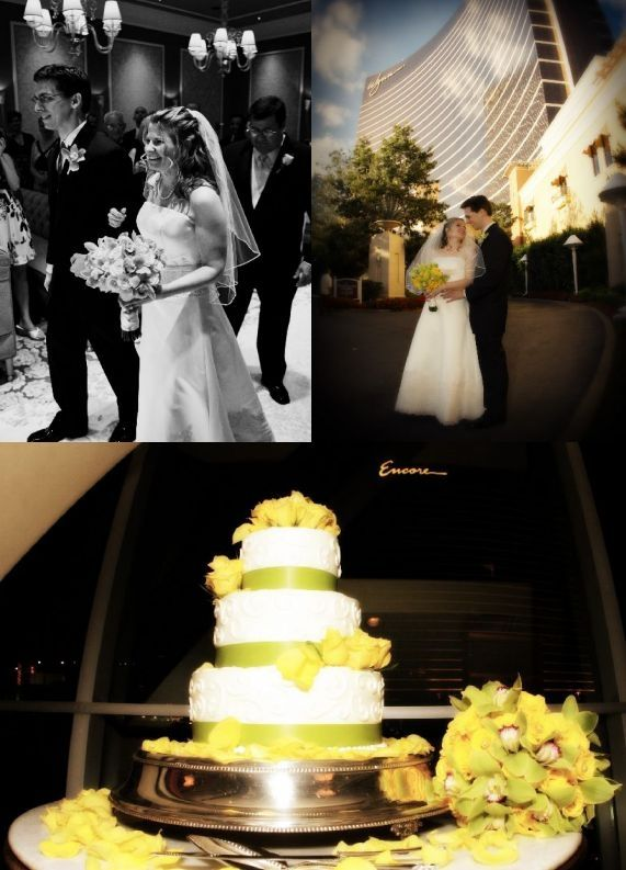 Stunning yellow and sage green intimate wedding at The Wynn, Las Vegas