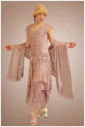 Romantic vintage-inspired dusty rose wedding dress
