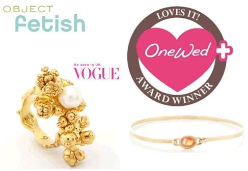 OneWed loves Object Fetish for bridal jewelry and custom wedding bands- truly works of art!