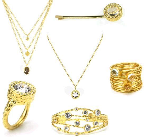 Stunning hammered gold Kevia Jewelry on Gilt.com