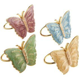 These pink, yellow, green, and blue napkin rings add a festive flair to any table.