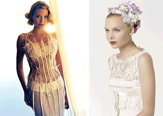 Stunning ivory and white lace wedding dresses