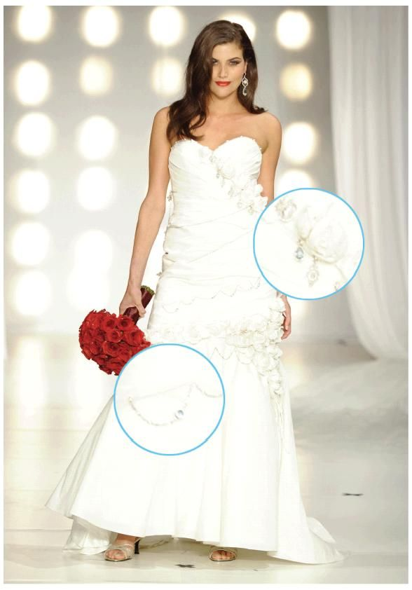 Stunning platinum wedding dress designed by David Tutera, worth over $500,000!