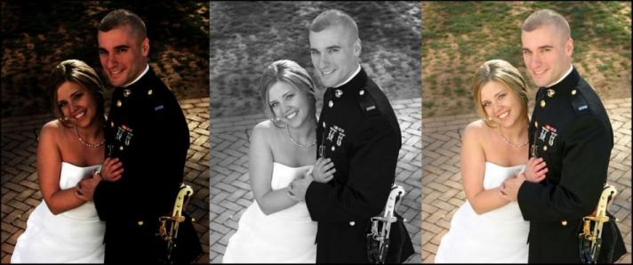 To get the perfect wedding photo, sometimes photoshopping is a must