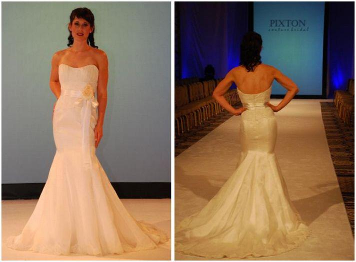 Silk satin organza sweetheart neckline wedding dress with mermaid skirt
