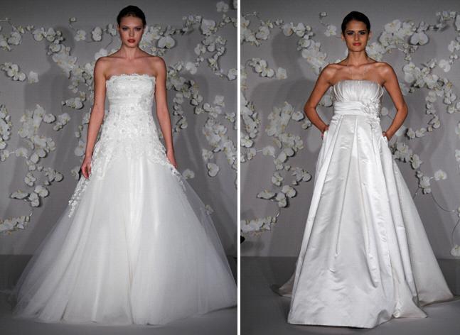 Ivory Alvina Valenta Strapless Wedding Dresses With Alencon Lace Tulle