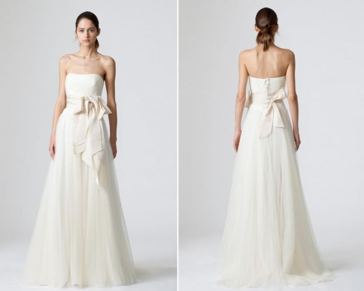 Spring 2010 bridal runway vera wang wedding dresses onewed for Simple romantic wedding dresses