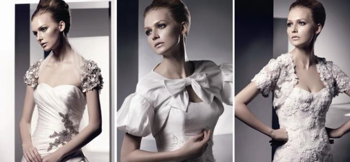 Bridal shrugs and jackets, perfect for a winter wedding