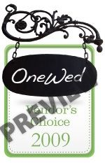 If you're a wedding vendor, this vendor's choice award badge can be yours.