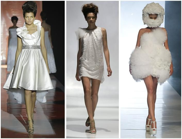 Adorable short wedding dresses- perfect for your wedding reception, so you can dance the night away!