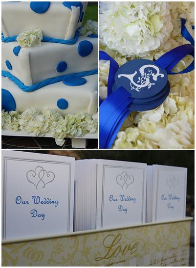 bluewhiteivorygoldcasualoutdoorweddingpolka casual outdoor wedding
