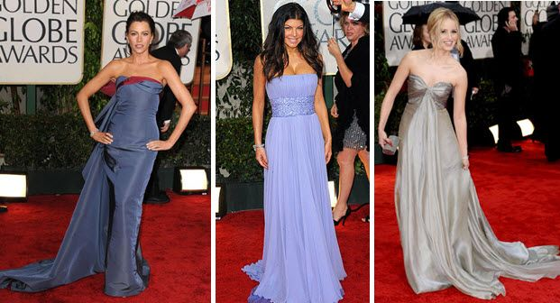 Golden Globes 2010 Red Carpet Sofia Vergara, Fergie, Dianna Argon