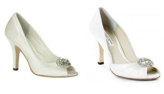 Go chic and elegant with these Benjamin Adams peep toe bridal heels