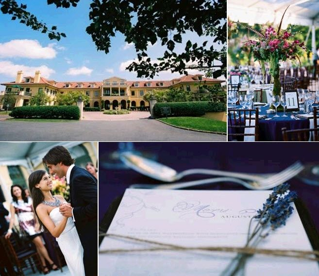 Stunning outdoor featured wedding at Keswick Hall, amidst rolling hills in Virginia