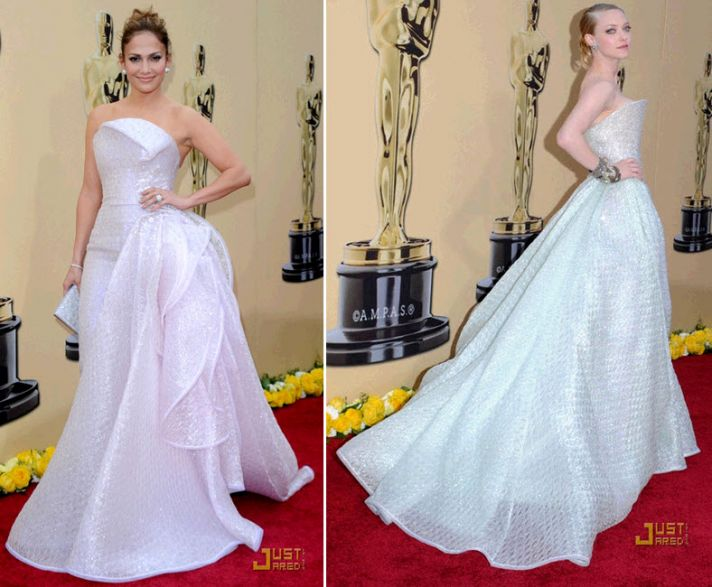 Jennifer Lopez and Amanda Seyfried sparkled in Armani Prive