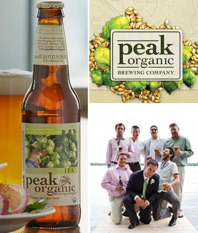 Delicious organic specialty beer from Peak Organic- your groom and groomsmen will love these beers!