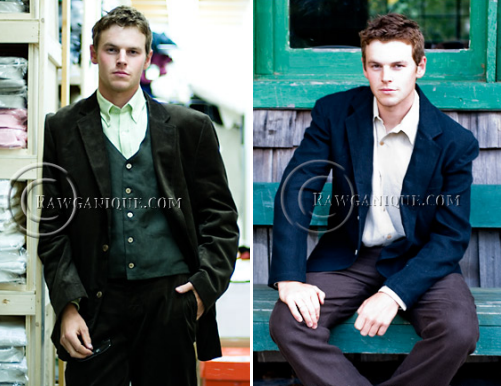 Gorgeous eco-friendly formalwear for grooms who want to go green!