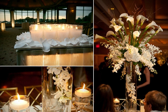 romantic-candlelit-wedding-reception-on-the-water-white-candles-wedding-decor-tablescape-white-floral-centerpieces