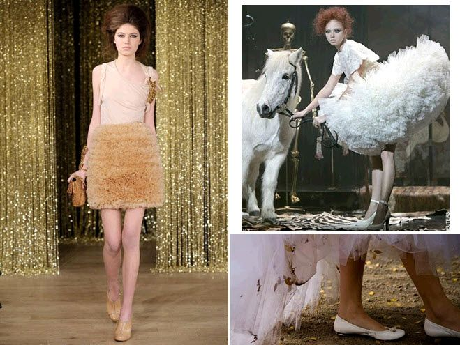 BalletInspired fashion off the catwalk loads of tulle and ballet flats