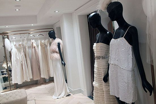 Chic fashion-forward wedding dresses and bridesmaids cocktail frocks from J.Crew