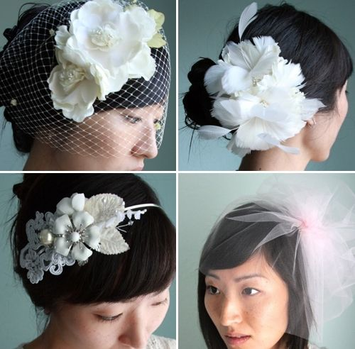 Stunning ecofriendly bridal hair accessories including headband with
