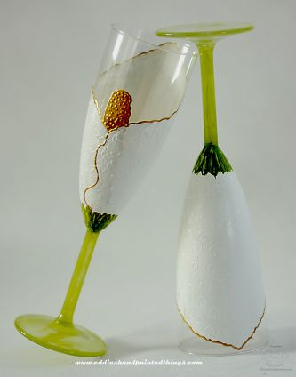 Savvy Steals Winner The Hand Painted Toasting Flutes Go To