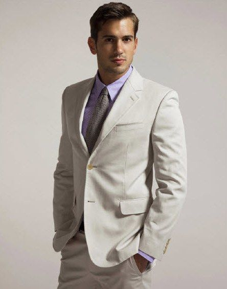 The perfect groomswear for a beach or destination wedding khaki suit and