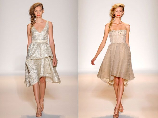 Wedding reception cocktail dresses by Lela Rose