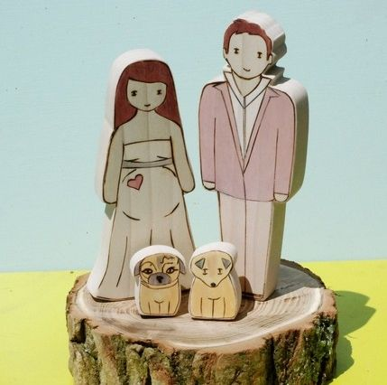 Credit Custom wedding cake topper by Star House