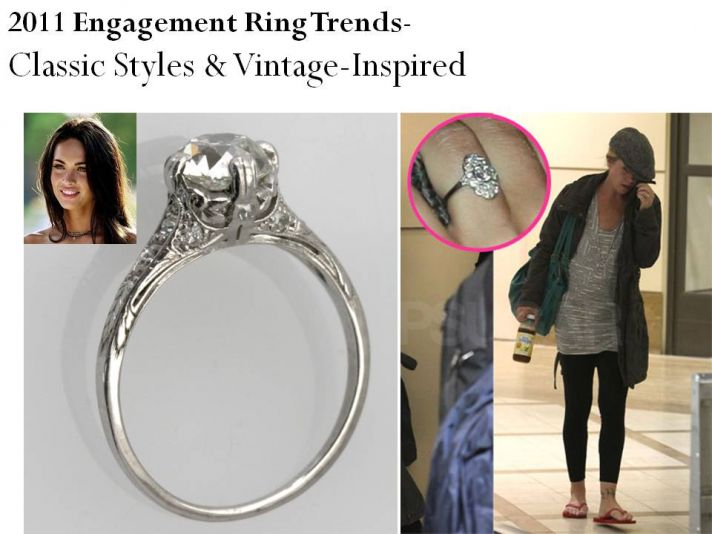 Vintage-inspired engagement rings and classic styles are on-trend for 2011