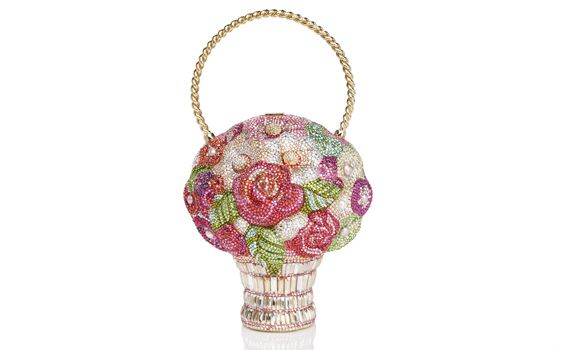 Adorable Judith Leiber clutch made to look like a flower girl basket