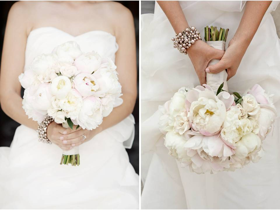 White Strapless Wedding Dress Ivory And Blush Pink Peony Bridal Bouquet Keema S Decor Ideas Red Roses Or You Can Go The
