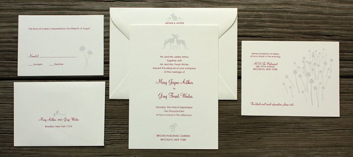 For our fairytale brides, The Ramble wedding invitation collection is perfect!